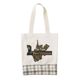 TEE I'm from West Virginia Zazzle HEART Tote Bag