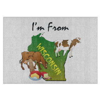 TEE I'm from Wisconsin Cutting Board