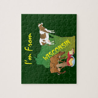 TEE I'm from Wisconsin Jigsaw Puzzle