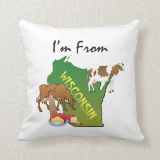 TEE I'm From Wisconsin Throw Pillow