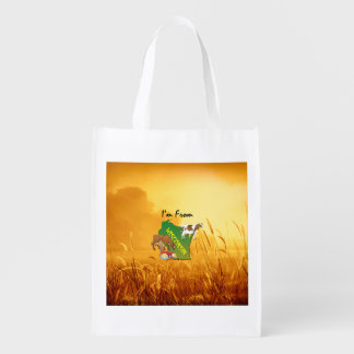 TEE I'm from Wisconsin Reusable Grocery Bag