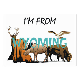 TEE I'm From Wyoming Business Card Templates