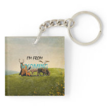 TEE I'm from Wyoming Keychain
