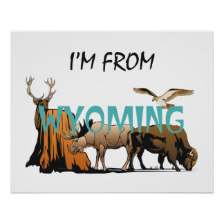 TEE I'm From Wyoming Print