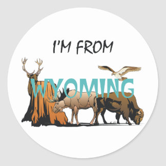 TEE I'm From Wyoming Stickers