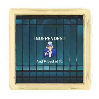 TEE Independent and Proud of It Gold Finish Lapel Pin