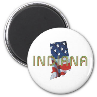 TEE Indiana Patriot 2 Inch Round Magnet