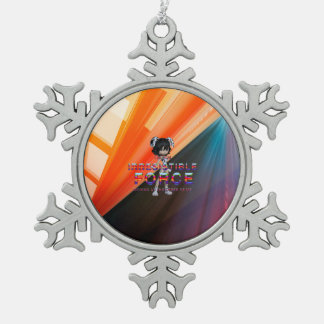 TEE Irresistible Force Snowflake Pewter Christmas Ornament
