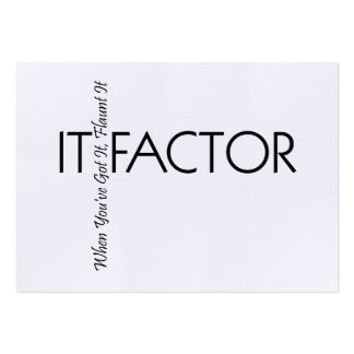 TEE It Factor Large Business Card