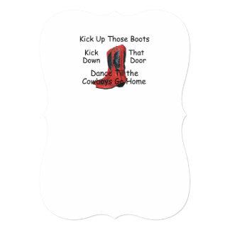 TEE Kick Up Those Boots Card