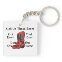 TEE Kick Up Those Boots Keychain