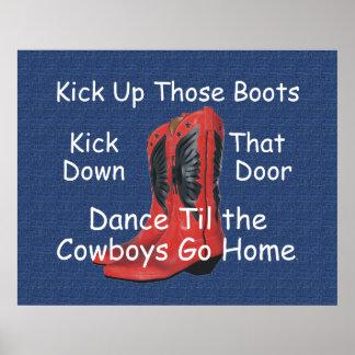 TEE Kick Up Those Boots Print