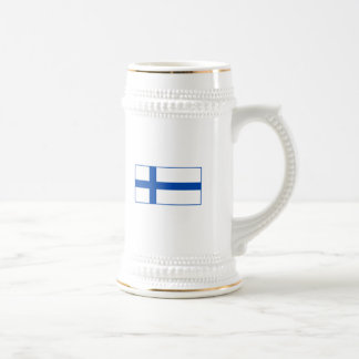 tee kuppi - The Flag of Finland Beer Stein