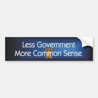 TEE Less Government More Common Sense Bumper Sticker