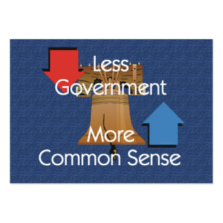 TEE Less Government More Common Sense Business Cards