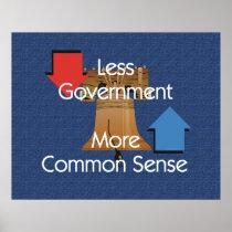 Less Government More Common Sense Slogan