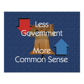 TEE Less Government More Common Sense Posters