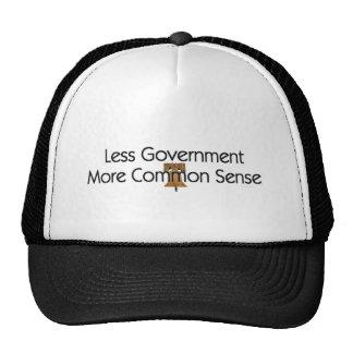 TEE Less Government More Common Sense Trucker Hat