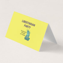 TEE Libertarian Party Business Card