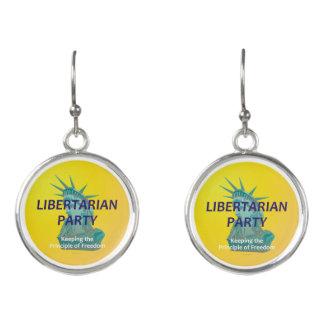 TEE Libertarian Party Earrings