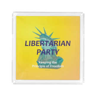 TEE Libertarian Party Serving Tray