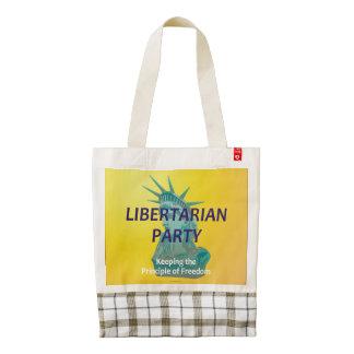 TEE Libertarian Party Zazzle HEART Tote Bag