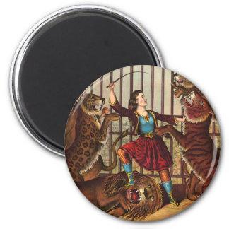 TEE Lion Queen 2 Inch Round Magnet