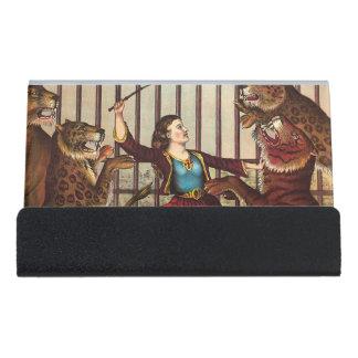 TEE Lion Queen Desk Business Card Holder