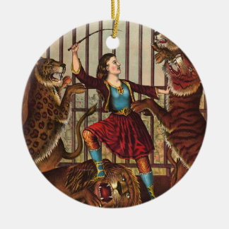 TEE Lion Queen Double-Sided Ceramic Round Christmas Ornament