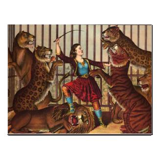 TEE Lion Queen Postcard