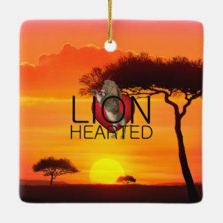 TEE Lionhearted Ceramic Ornament