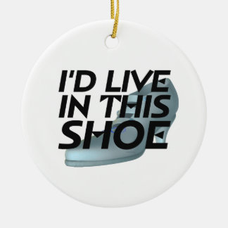 TEE Live for Shoes Ceramic Ornament