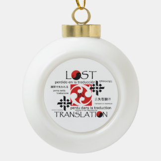 TEE Lost in Translation Ceramic Ball Christmas Ornament