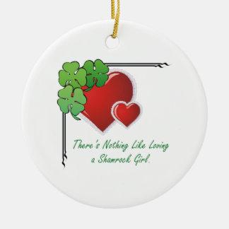 TEE Love an Irish Girl Ceramic Ornament