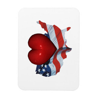 TEE Love My Country Rectangular Photo Magnet