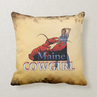 TEE Maine Cowgirl Throw Pillow