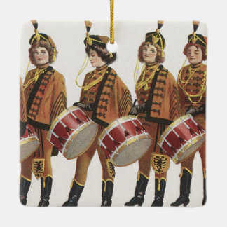 TEE Marching Band Fan Ceramic Ornament