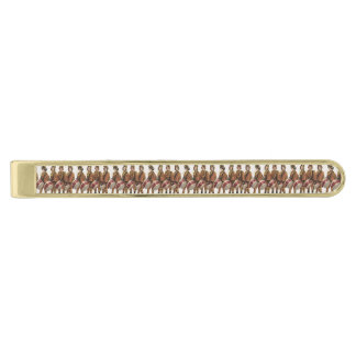 TEE Marching Band Fan Gold Finish Tie Clip