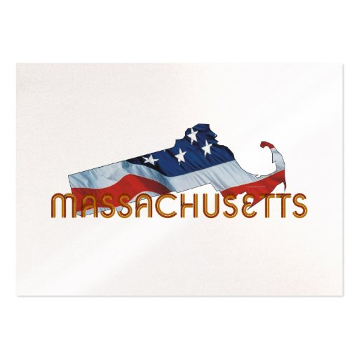 TEE Massachusetts Patriot Large Business Cards (Pack Of 100)