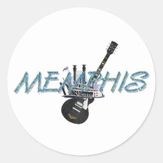 TEE Memphis Classic Round Sticker