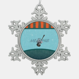 TEE Memphis Snowflake Pewter Christmas Ornament