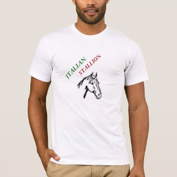 Tee Mens Italian Stallion Christmas Tee Shirt by creativeconceptss at Zazzle