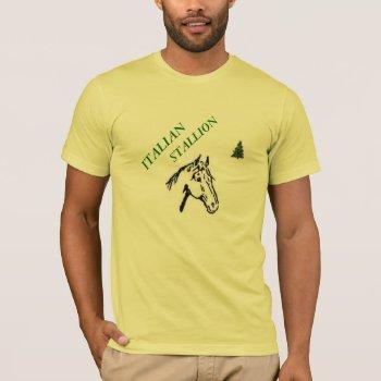 Tee Mens Italian Stallion Christmas Tee Shirt by creativeconceptss at Zazzle