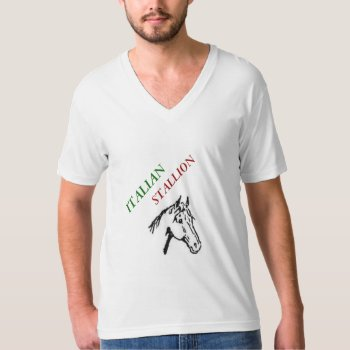 Tee Mens Italian Stallion Tee Shirt by creativeconceptss at Zazzle