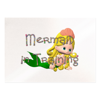 TEE Mermaid in Training Large Business Cards (Pack Of 100)