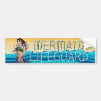 TEE Mermaid Lifeguard Car Bumper Sticker