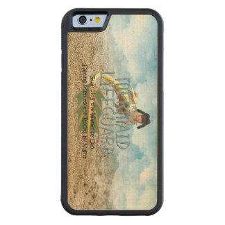 TEE Mermaid Lifeguard Carved Maple iPhone 6 Bumper Case