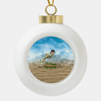 TEE Mermaid Lifeguard Ceramic Ball Christmas Ornament