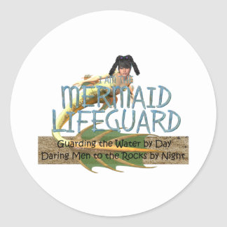 TEE Mermaid Lifeguard Classic Round Sticker