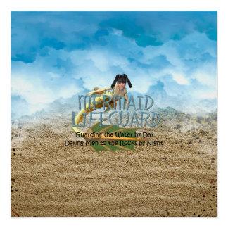 TEE Mermaid Lifeguard Poster
